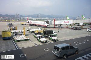 臺北松山機場(攝影/Bevis Lin)。